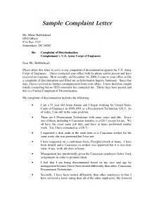 Cover Letter To Employer by Sle Employee Complaint Letter Printable Writing Lines