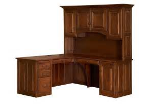 Home Office Desk Solid Wood Amish Traditional Corner Computer Desk Hutch Home Office