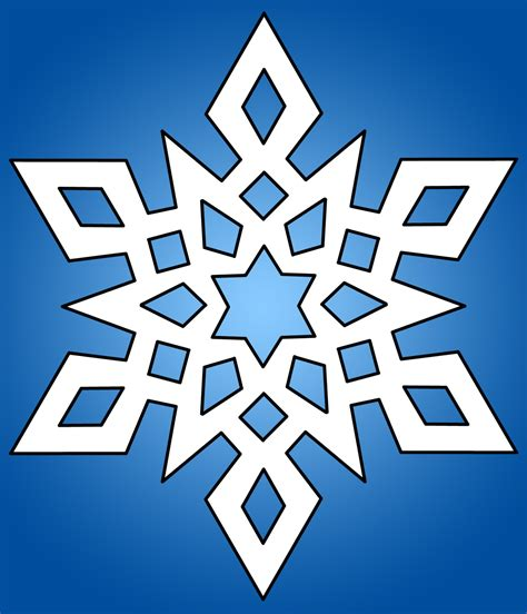 snow flake clip white snowflake clipart clipart panda free clipart images