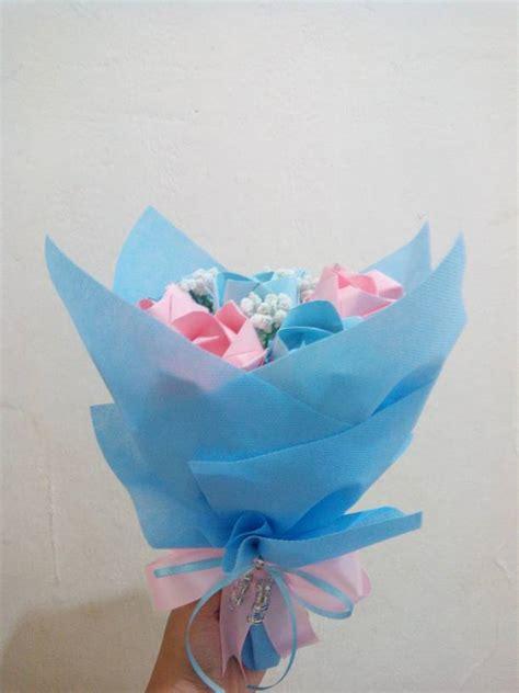 Origami Bunga Ros - jual buket bunga mawar origami origamiflower