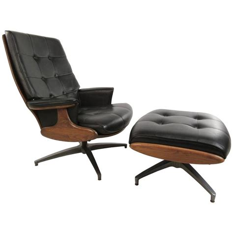 swivel chair with ottoman heywood wakefield swivel lounge chair with ottoman at 1stdibs