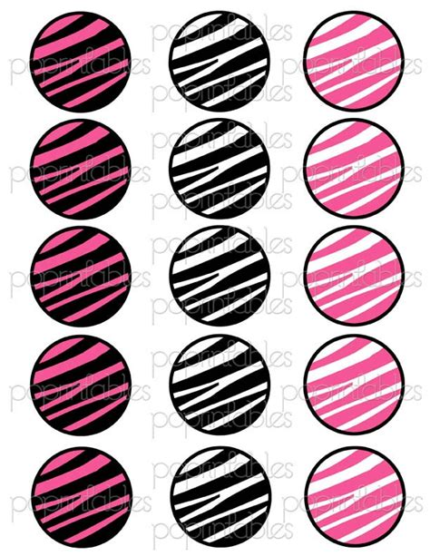 printable zebra cupcake toppers 6 best images of zebra print cupcake toppers printable