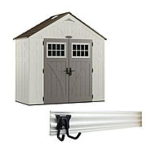 Craftsman Shed Accessories by 8 X 4 Resin Storage Building With Trackwall System Bundle Lawn Garden Sheds Outdoor