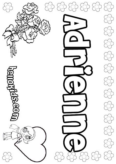 coloring pages of girl names adrienne coloring pages hellokids com