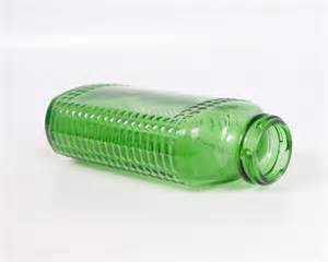 Air Wick Glass Air Freshener Vintage Green Glass Chlorophyll Bottle Poison Bottle Air Wick