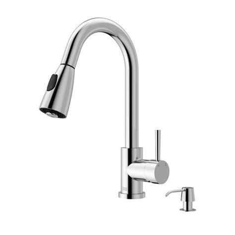 home depot kitchen faucets on sale vigo single handle pull out sprayer kitchen faucet with soap dispenser in chrome vg02005chk2