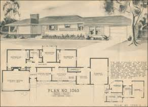 1950s Ranch House Floor Plans 1950s Ranch House Plans House Design
