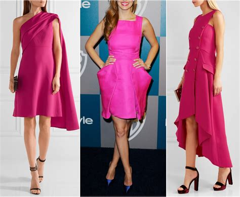 what color shoes with pink dress fuchsia