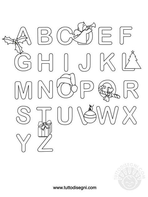 lettere dell alfabeto natalizie alfabeto di natale con disegni da colorare tuttodisegni