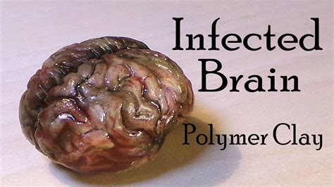 How To Make A Paper Brain - brain polymer clay tutorial infected