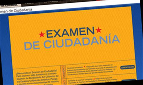 preguntas ciudadania espanol uscis el servicio de inmigraci 243 n lanz 243 examen para la ciudadan 237 a
