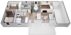 villa contemporaine 80 m2 plain pied mod 232 le lys salon