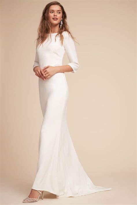 Sleeve Wedding Dresses by Simple Sleeved Wedding Dresses Like Meghan Markle S