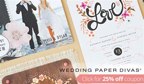 Wedding Paper Divas Promo Code by Wedding Paper Divas Coupon Code Get 25 Your Order