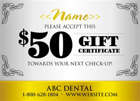 dental gift certificate template 18 brilliant personalized postcard design exles