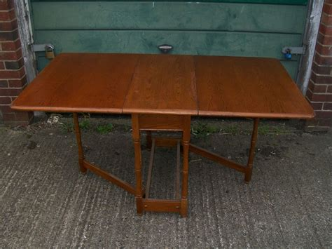 Wooden Drop Leaf Table Vintage Retro Solid Wooden Drop Leaf Dining Table Oak Mahogany Walnut Ash Ebay