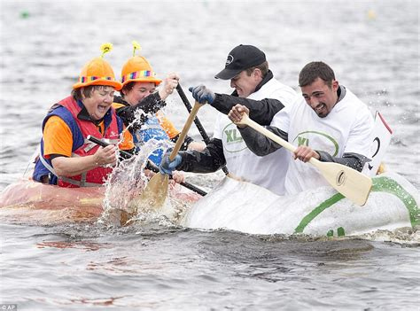 new year race across the river compete in the annual pumpkin race across pesaquid