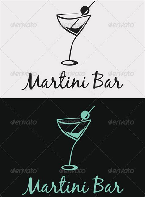 martini bar logo martini bar logo graphicriver