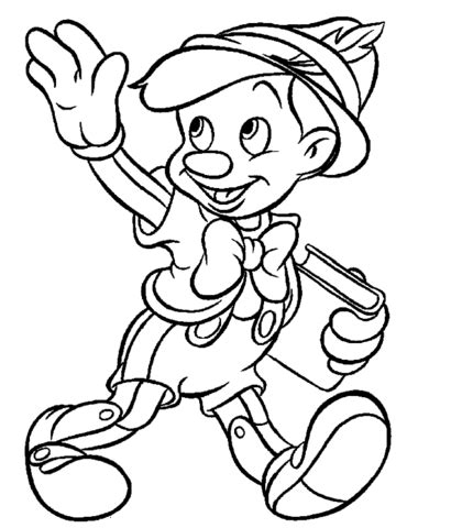 imagenes para colorear virina dibujo de pinocho va al colegio para colorear dibujos