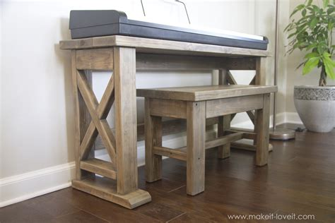 piano bench diy diy digital piano stand plus bench a 25 project make it and love it
