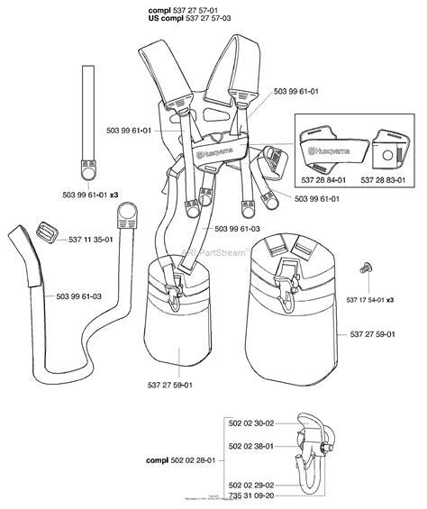 husqvarna  harness duo balance parts diagram  harness