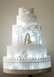 Blue And Silver Wedding Rosalind Miller Wedding Cakes The Winter Collection