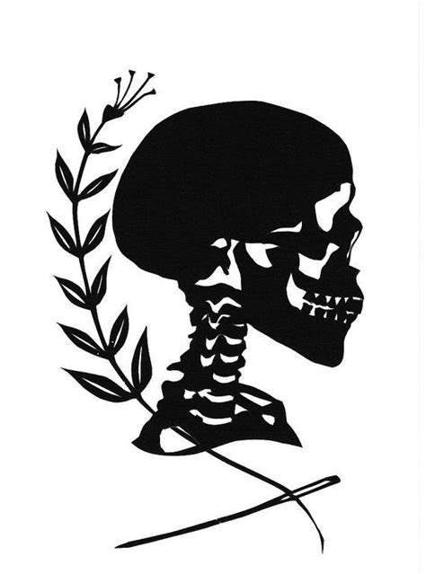 silhouette tattoo paper instructions halloween skull silhouette papercutting by jenny lee