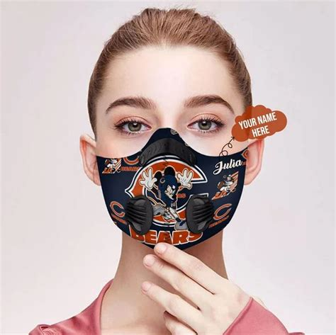 hot hot chicago bears mickey personalized custom  filter face mask