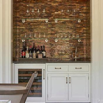 White Kitchen Backsplashes Iridescent Copper Backsplash Design Ideas