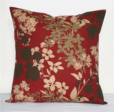 accent pillows for brown couch red brown and tan 18 inch decorative pillows accent