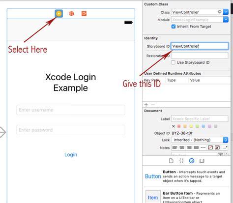 xcode tutorial login screen xcode login screen exle using swift 3 php and mysql