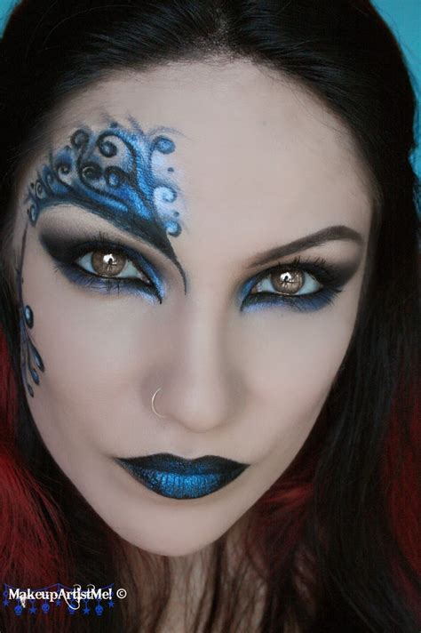 tutorial makeup artist make up artist me blue secret blue masquerade makeup