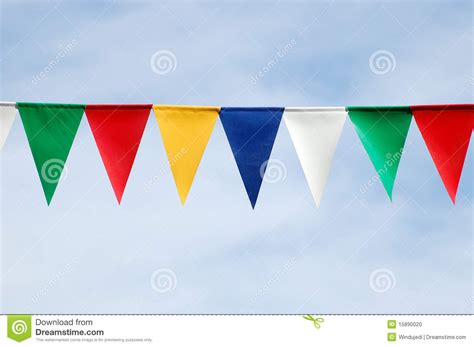 colored flags colored triangular flags stock photo image of green