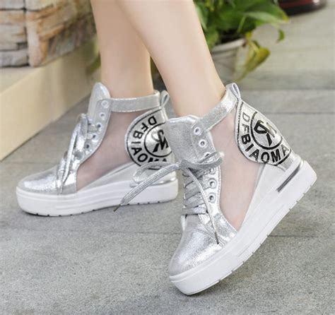 wedge tennis shoes for s platform wedge sneakers lace up summer ankle boots