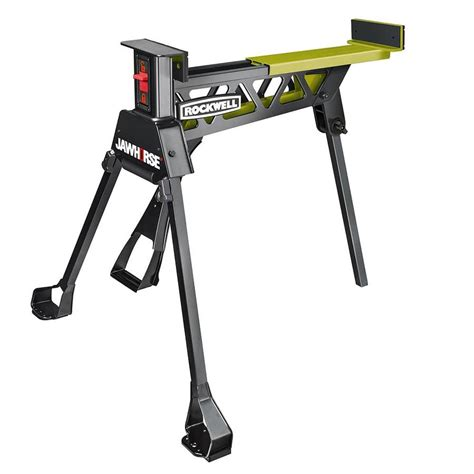 saw horse work bench shop rockwell jawhorse 37 in steel saw horse at lowes com