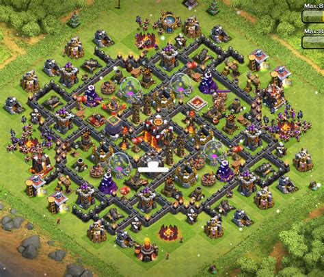 th10 trophy base town hall 10 trophy pushwar base anti golem anti top th10 farming bases latest layouts