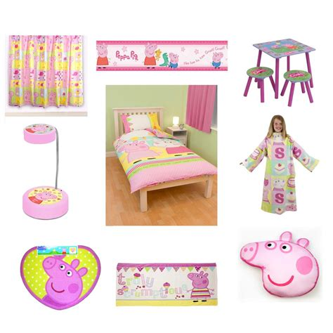 the room merchandise peppa pig bedding bedroom accessories new free shipping ebay