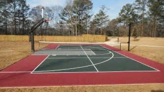 how much to build a basketball court in backyard innovative basketball and tennis court cost build outdoor