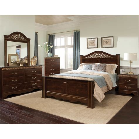 panel bedroom sets standard furniture odessa panel customizable bedroom set