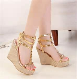 Dress shoes ladies sexy shoes leopard print wedges lace up wedges