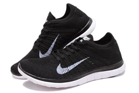 nike flyknit 4 0 s running shoes all black nike
