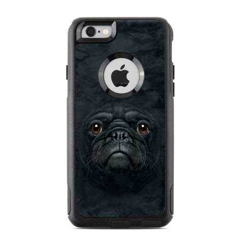 black pug checks otterbox commuter iphone 6 skin black pug by the mountain decalgirl