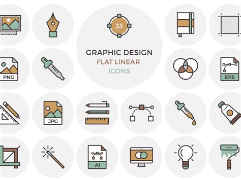 11 gallery icon flat images flat design icons free flat 33 flat graphic design icons by inspirationfeed igor