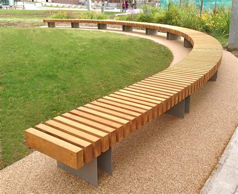 curved seating bench clifton curved seat woodscape street furniture timber
