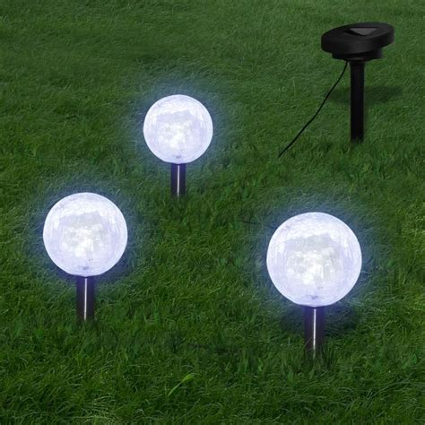 Outdoor Solar Garden Lights Vidaxl Co Uk Solar Bowl 3 Led Garden Lights With Spike Anchors Solar Panel