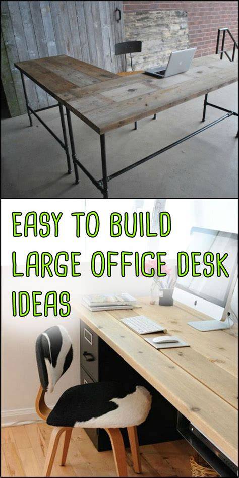 which of these is a home office these easy to build large home office desk ideas require