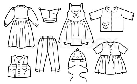 black and white pattern on clothes children clothes stock vector colourbox