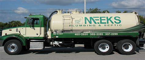 meeks plumbing inc vacuum truck division about us