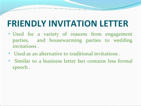 Closing Letter Of Invitation Social Correspondence