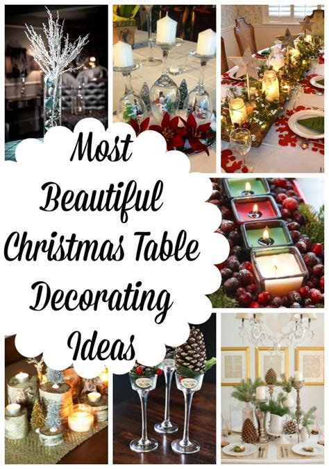 beautiful christmas decorations to make most beautiful table decorations ideas all about